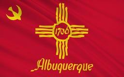 Национальный флаг Альбукерке - город в югозападном объединенном St иллюстрация штока