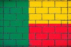Национальный флаг Бенина стоковая фотография rf