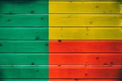 Национальный флаг Бенина стоковое фото