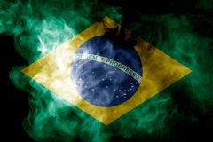 Национальный флаг Бразилии Стоковое Изображение