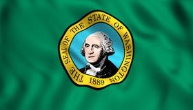 Национальный флаг Вашингтона иллюстрация штока