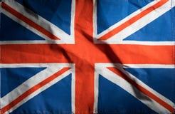 Национальный флаг Великобритании, предпосылка Стоковое Изображение RF