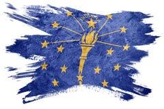 Национальный флаг Индианы Grunge Ход щетки флага Индианы бесплатная иллюстрация