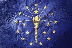 Национальный флаг Индианы Grunge Textur grunge предпосылки флага Индианы бесплатная иллюстрация