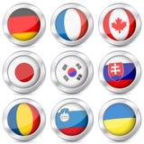 Национальный флаг кнопки металла Стоковые Фотографии RF