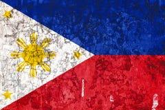 Национальный флаг на предпосылке старой стены иллюстрация штока