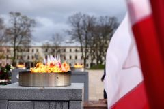 Национальный флаг Польша Стоковое фото RF