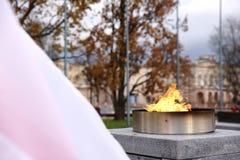 Национальный флаг Польша Стоковые Фото