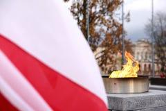 Национальный флаг Польша Стоковая Фотография RF