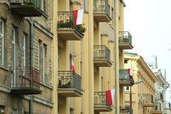 Национальный флаг Польша Стоковые Изображения RF