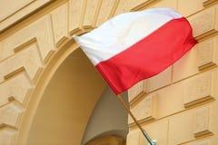 Национальный флаг Польша Стоковое Изображение RF