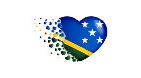 Национальный флаг Соломоновых Островов в иллюстрации сердца С любовью к стране Соломоновых Островов Национальный флаг Соломоновых иллюстрация вектора