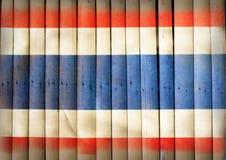 Национальный флаг Таиланда на бамбуковой древесине Стоковые Изображения RF