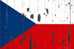 Национальный флаг чехии на предпосылке бесплатная иллюстрация