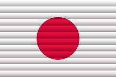 Национальный флаг японии иллюстрация вектора