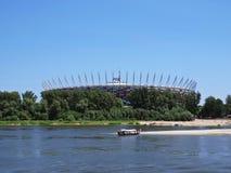 Национальный футбольный стадион на речном береге, Варшаве, Польше, мае 2018 стоковая фотография