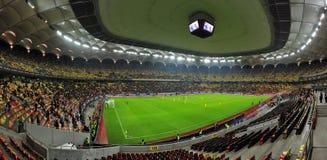 Национальная арена в Бухаресте перед спичкой Румыни-Дании дружелюбной Стоковое Фото