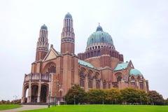 Национальная базилика священного сердца в Koekelberg стоковые фото