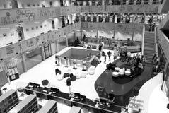 Национальная библиотека технологии Праги, NTK Праги, интерьеров Стоковые Фотографии RF