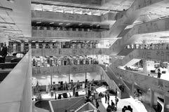 Национальная библиотека технологии Праги, NTK Праги, интерьеров Стоковое фото RF