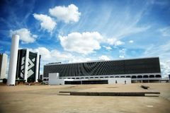 Национальная библиотека BrasÃlia стоковые фотографии rf