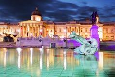 Национальная галерея искусства, квадрата Trafalgar, Лондона стоковая фотография