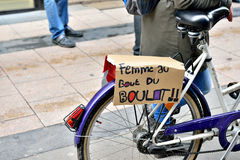 Национальная забастовка в Брюсселе Стоковая Фотография RF