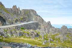 Национальная туристская трасса от Vardø к Hamningberg в Finnmark, северной Норвегии Стоковые Изображения