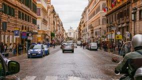 Национальная улица в Риме вызвала через Nazionale Стоковые Изображения RF