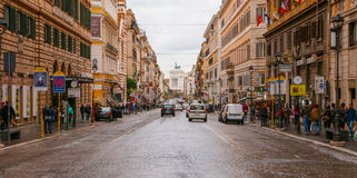 Национальная улица в Риме вызвала через Nazionale стоковые фотографии rf