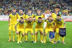 Национальная футбольная команда Украины Стоковое фото RF