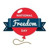 Национальная эмблема приветствию дня свободы Стоковая Фотография
