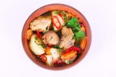 Национальное жаркое еды с картошками и цыпленком, индюком, птица, Стоковые Фото