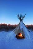 Национальные индейцы жилища Южной Америки Стоковое Изображение