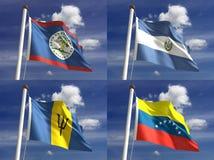 Национальные флаги Стоковая Фотография