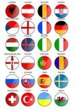 Национальные флаги Стоковое фото RF
