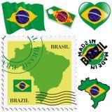 Национальные цвета Бразилии Стоковое Изображение RF