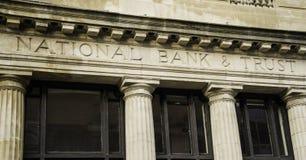 Национальный банк & фасад доверия Стоковое фото RF