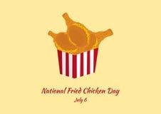 Национальный вектор дня жареной курицы иллюстрация штока