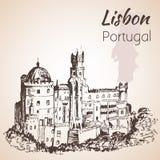 Национальный дворец Pena - Португалии иллюстрация штока