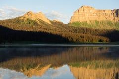 Национальный лес Шошон горной цепи скал брекчии озера ручейк Стоковое Изображение RF