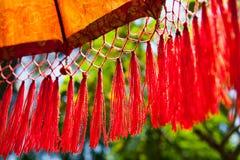 Национальный индонезийский зонтик украшения для церемоний стоковое фото