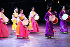 Национальный костюм Южной Кореи Стоковые Фото