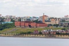 Национальный культурный центр Казани в ландшафте города стоковое изображение rf