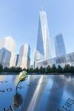 Национальный мемориал 11-ое сентября в более низком Манхаттане, Нью-Йорке Стоковое фото RF