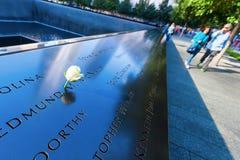 Национальный мемориал 11-ое сентября в более низком Манхаттане, Нью-Йорке Стоковые Фотографии RF