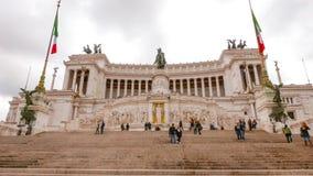 Национальный монумент Виктора Emmanuel в Риме - вызванном Monumento Vittorio Emanuele стоковые фотографии rf