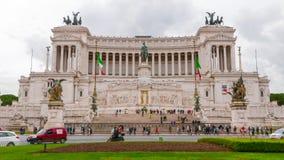 Национальный монумент Виктора Emmanuel Vittorio Emanuele в Риме - туристической достопримечательности Стоковые Изображения