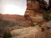 Национальный монумент Колорадо около Grand Junction Колорадо Стоковое Изображение