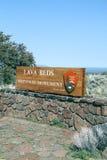 Национальный монумент кроватей лавы стоковые фотографии rf
